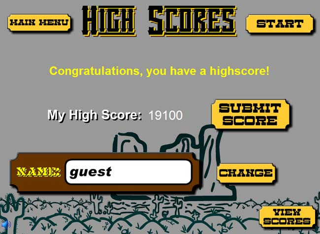 Miner Mayhem High Score Screen