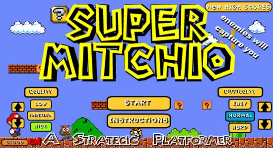 Super Mitchio Main Game Screen