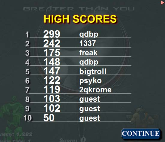 Quake Live Rail Game High Scores