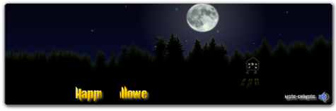 Halloween Flash Homepage Banner