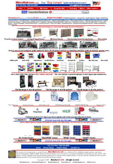mikesmailroom.com homepage