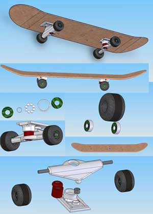 Skateboard done in CAD